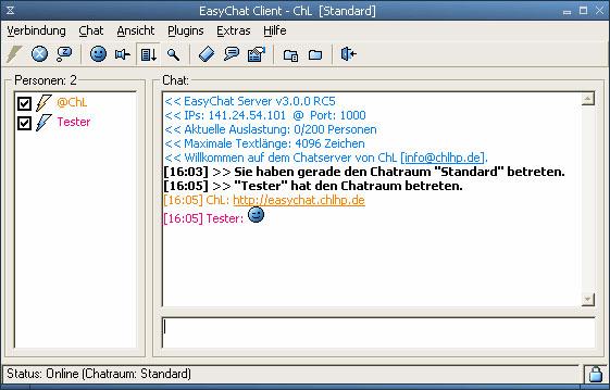 Screenshot vom Programm: EasyChat